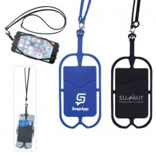 Silicone Smartphone Lanyard Phoneholder Wallet