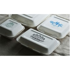 Sugarcane Fiber Takeaway Containers Clamshell