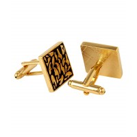 Golden Metal Cufflinks