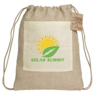 Reforest Jute Drawstring Backpack