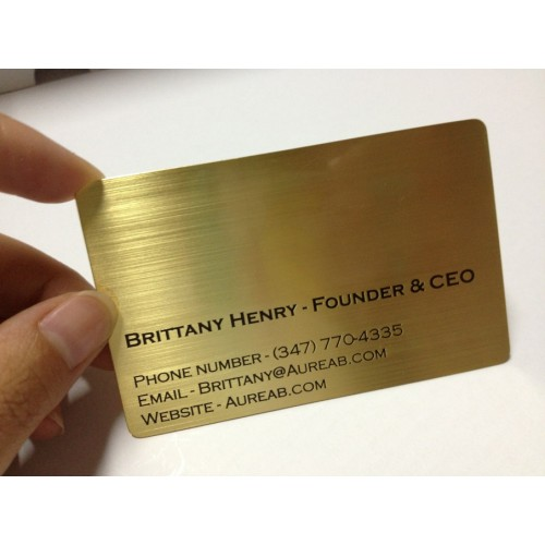 Metal business card gold metal business card colourmoves