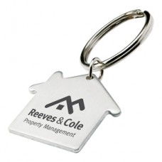 House shape Metal Keyring