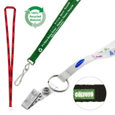 10mm Screen Printed Recycled Lanyard