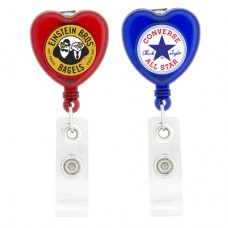 Shaped Heart Retractable Holder Badge
