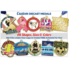 Custom Die Cast Metal Medals