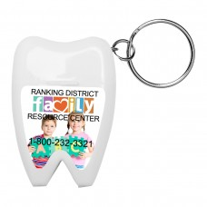 Tooth Shaped Dental Floss Dispenser with Keyring