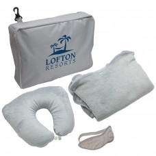Travel Set Pillow Blanket and Eye Mask