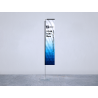 Rectangle Banner & Flags