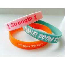 Debossed Recessed Silicone Wristbands
