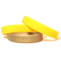 Embossed Raised Silicone Wristbands