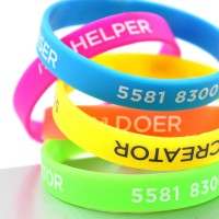 Promotional Printed Silicone Wristbands